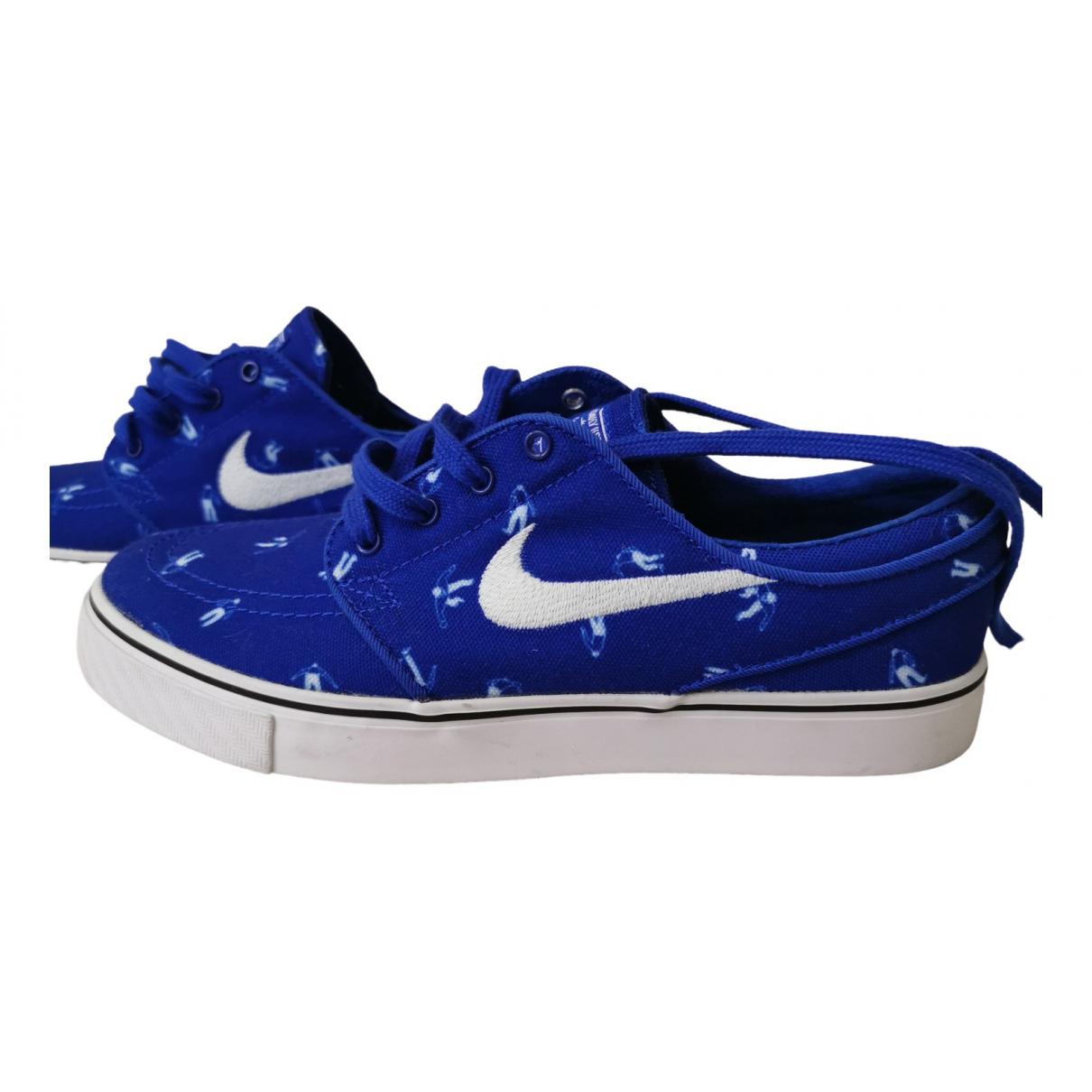 Nike - Baskets Zoom pour homme en toile - bleu