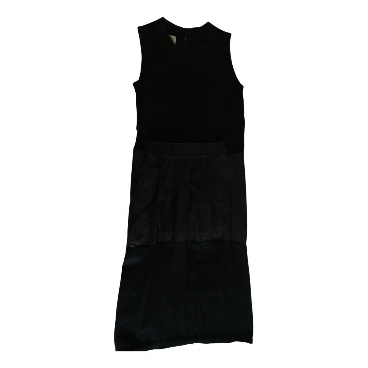 Maison Martin Margiela \N Black Leather dress for Women S International