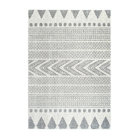 nuLoom Shaina Tribal Rug, One Size , Gray