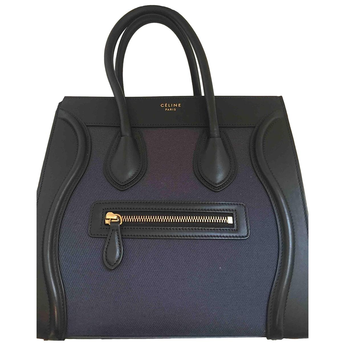 Celine Luggage Blue Cloth handbag for Women \N