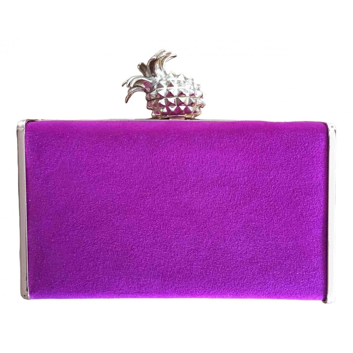 Zara \N Purple Metal Clutch bag for Women \N