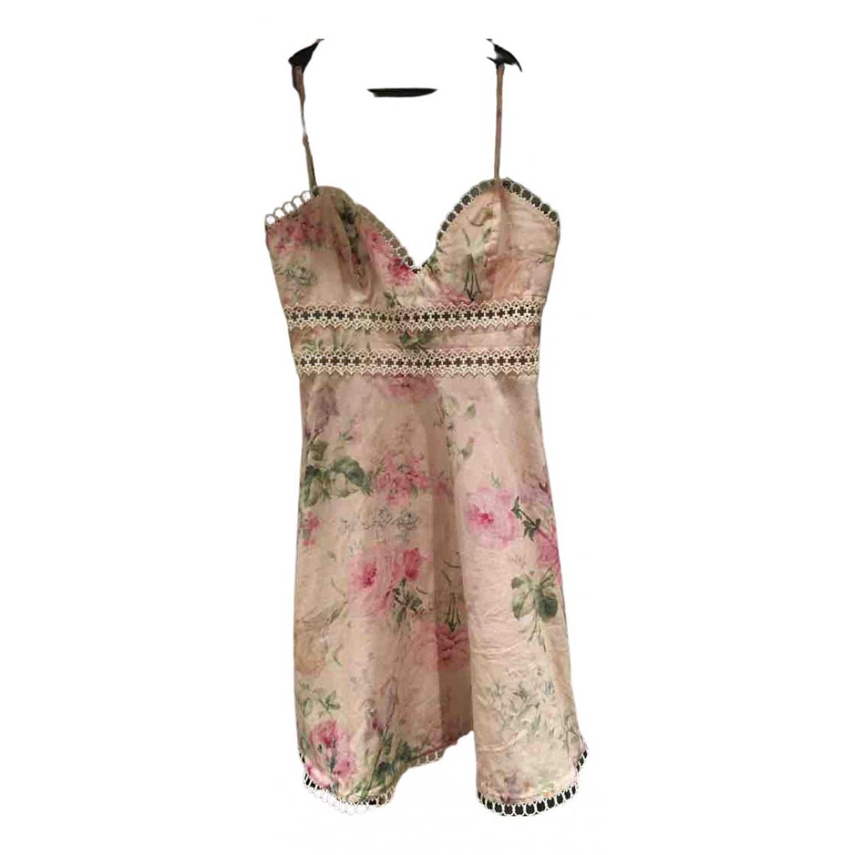 Zimmermann \N Kleid in  Rosa Baumwolle