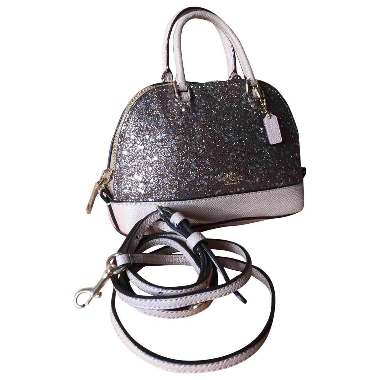 Coach \N Handtasche in  Lila Leder