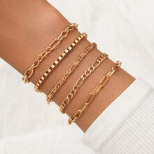 5 Stuecke Armband mit Kette