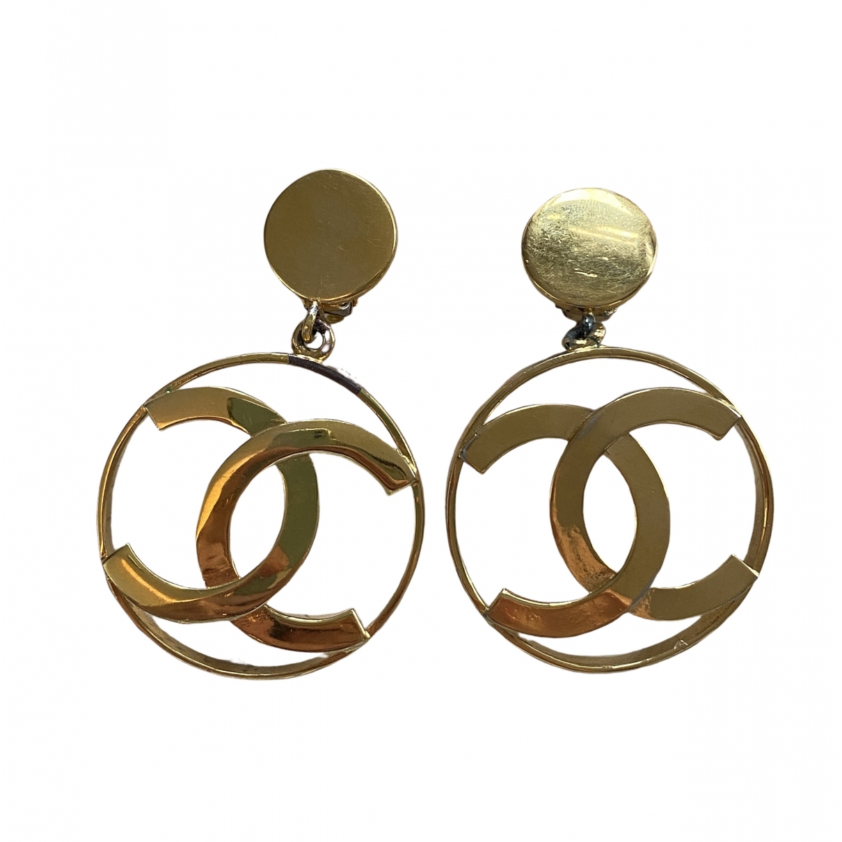 Chanel CC Gold Gold plated Earrings for Women \N