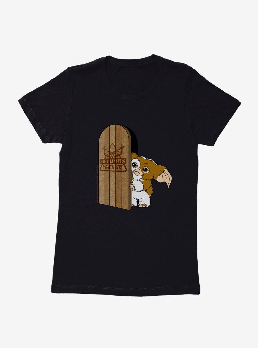 Gremlins Gizmo Off Limits Door Womens T-Shirt