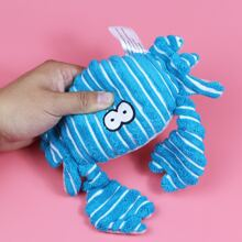 Striped Crab Shaped Dog Sound Toy