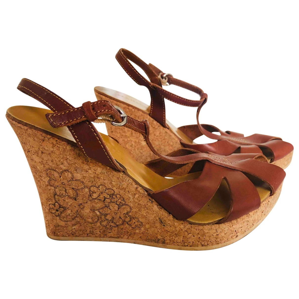 Max & Co \N Brown Leather Heels for Women 38 EU