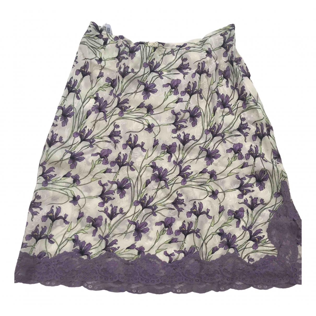 Dior - Jupe   pour femme en soie - violet