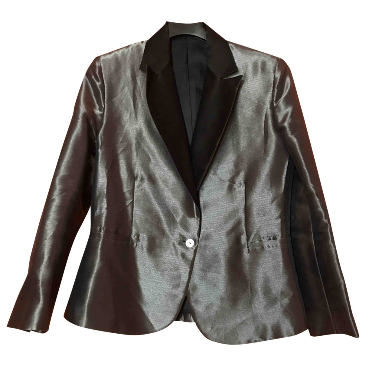 Non Signé / Unsigned \N Silver Silk jacket for Women 42 IT