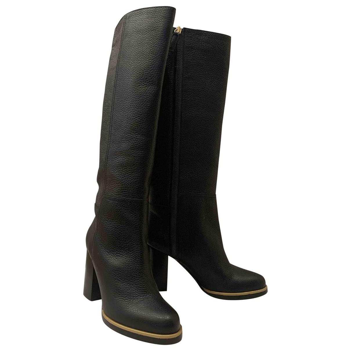 Escada \N Black Leather Boots for Women 39 EU
