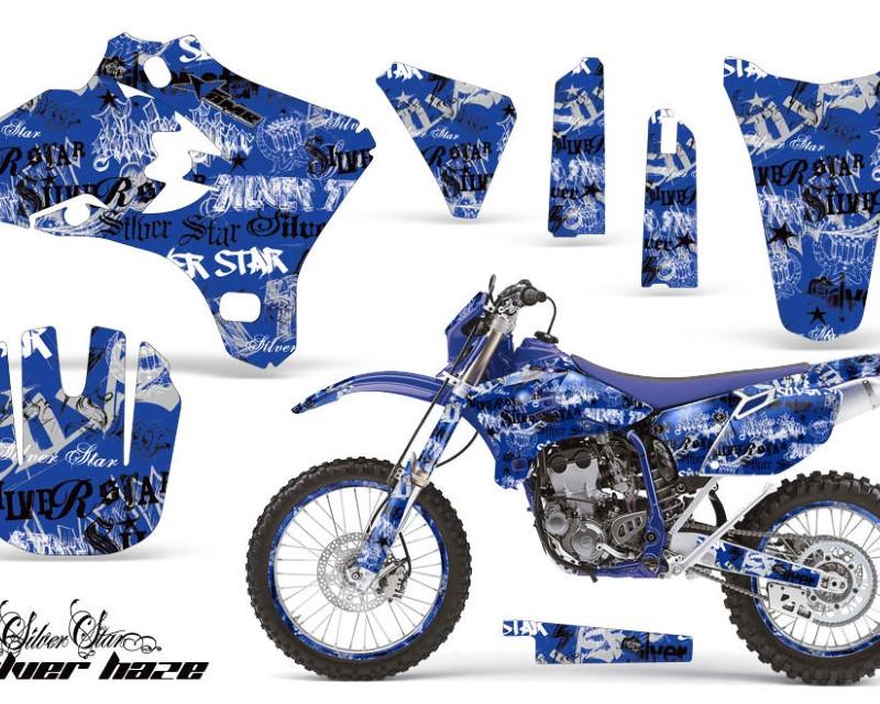 AMR Racing Graphics MX-NP-YAM-YZ250F-YZ450F-05-06-SSSH K U Kit Decal Wrap + # Plates For Yamaha YZ250F YZ450F 2005-2006 SSSH BLACK BLUE