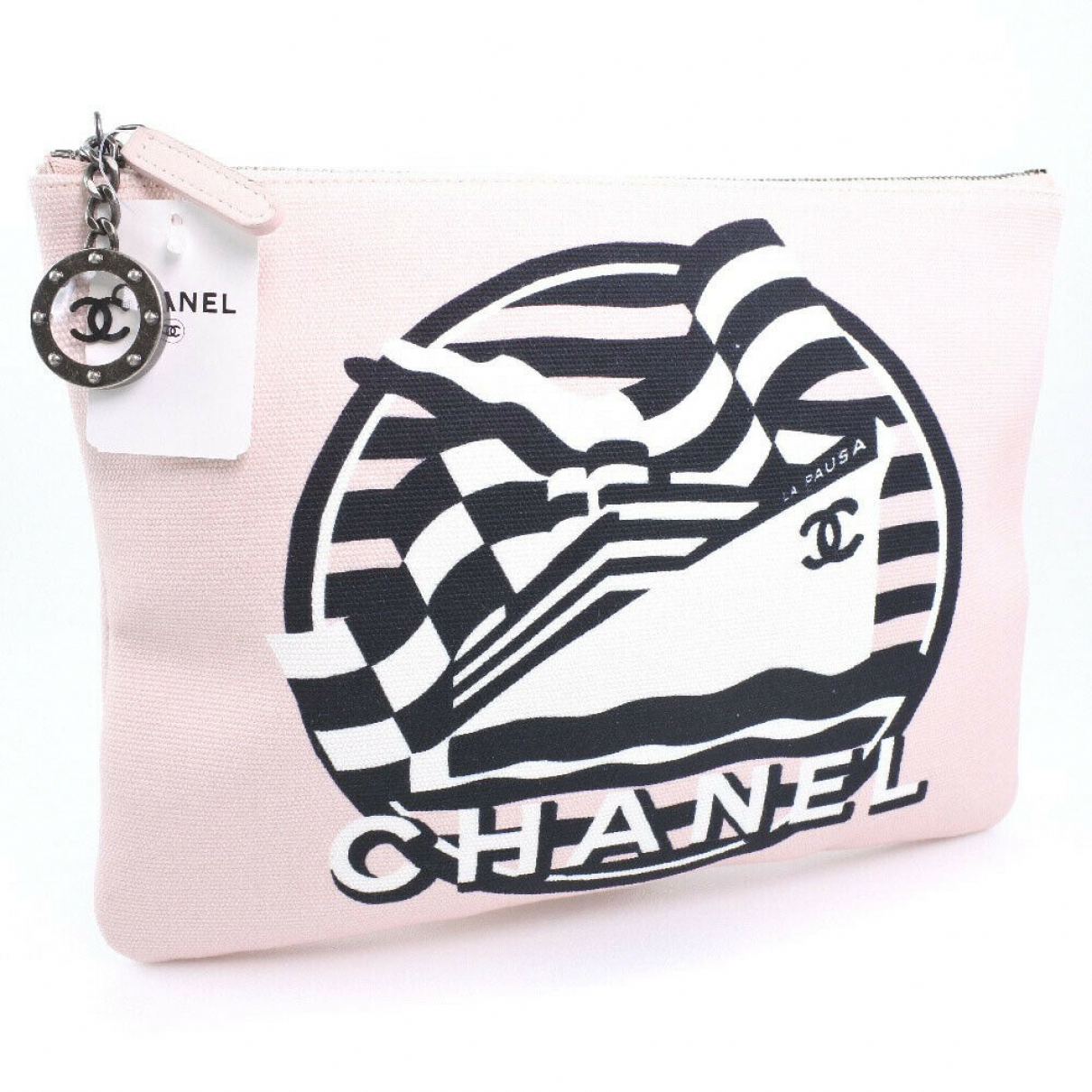 Chanel \N Clutch in  Rosa Leder