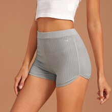 Strick einfarbige Lounge Shorts