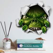 Wandaufkleber mit Halloween Monster Muster