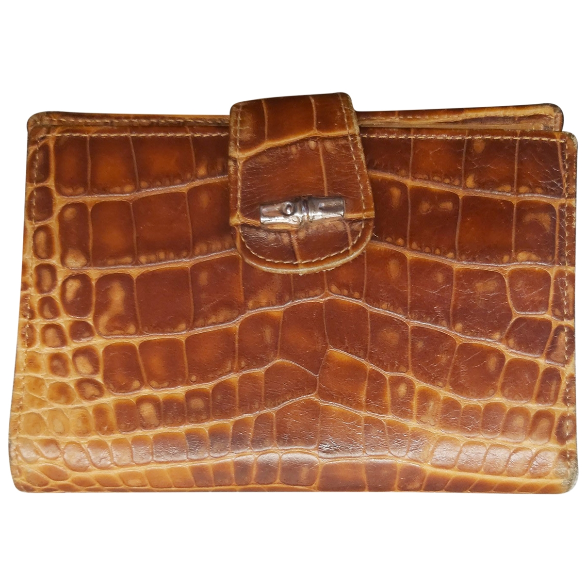 Monedero de Cuero Longchamp