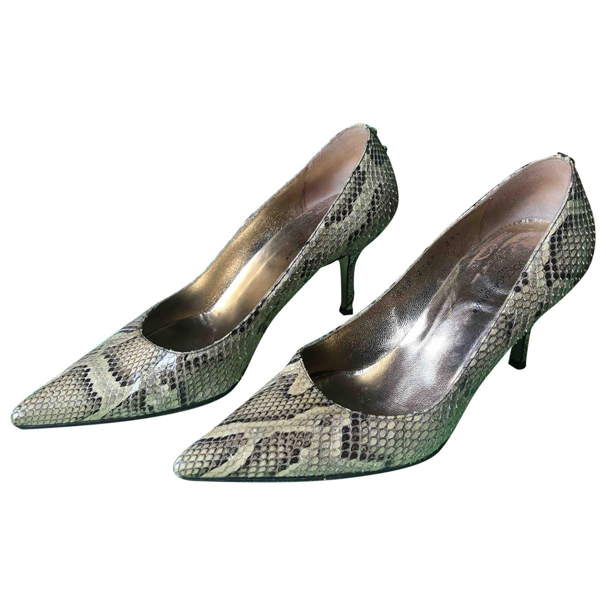 Dolce & Gabbana - Escarpins Taormina pour femme en python - beige