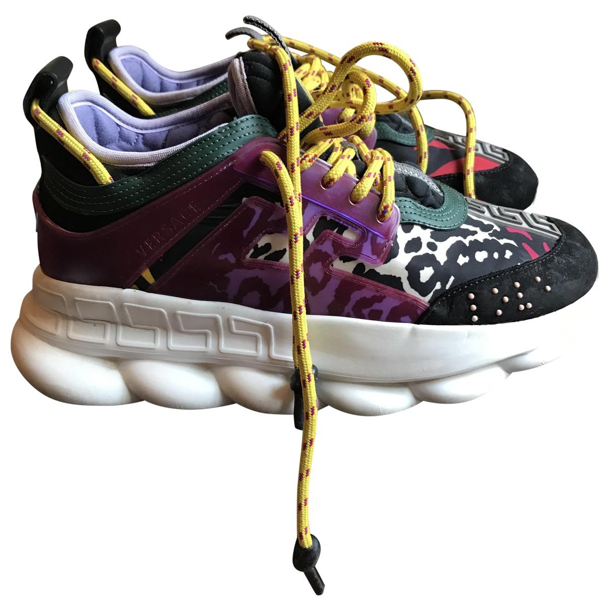 Versace - Baskets Chain Reaction pour femme - multicolore