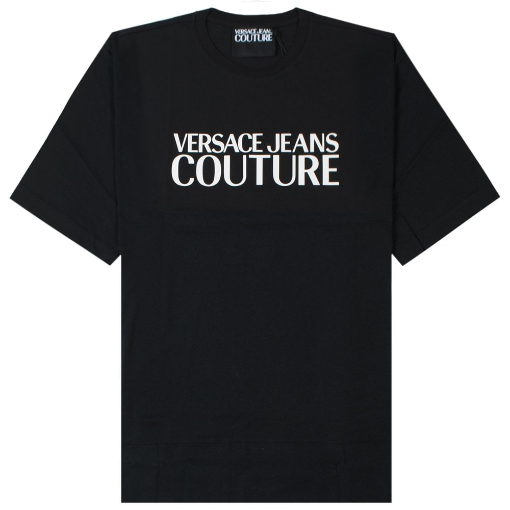 Versace Jeans Couture Logo Print T-Shirt Colour: BLACK, Size: EXTRA EXTRA LARGE