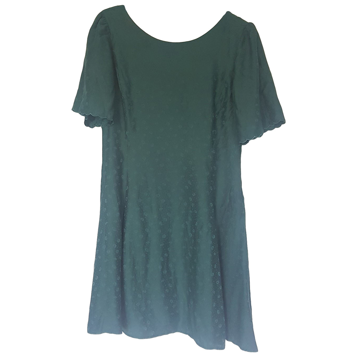 Sézane Spring Summer 2019 Green Silk dress for Women 38 FR