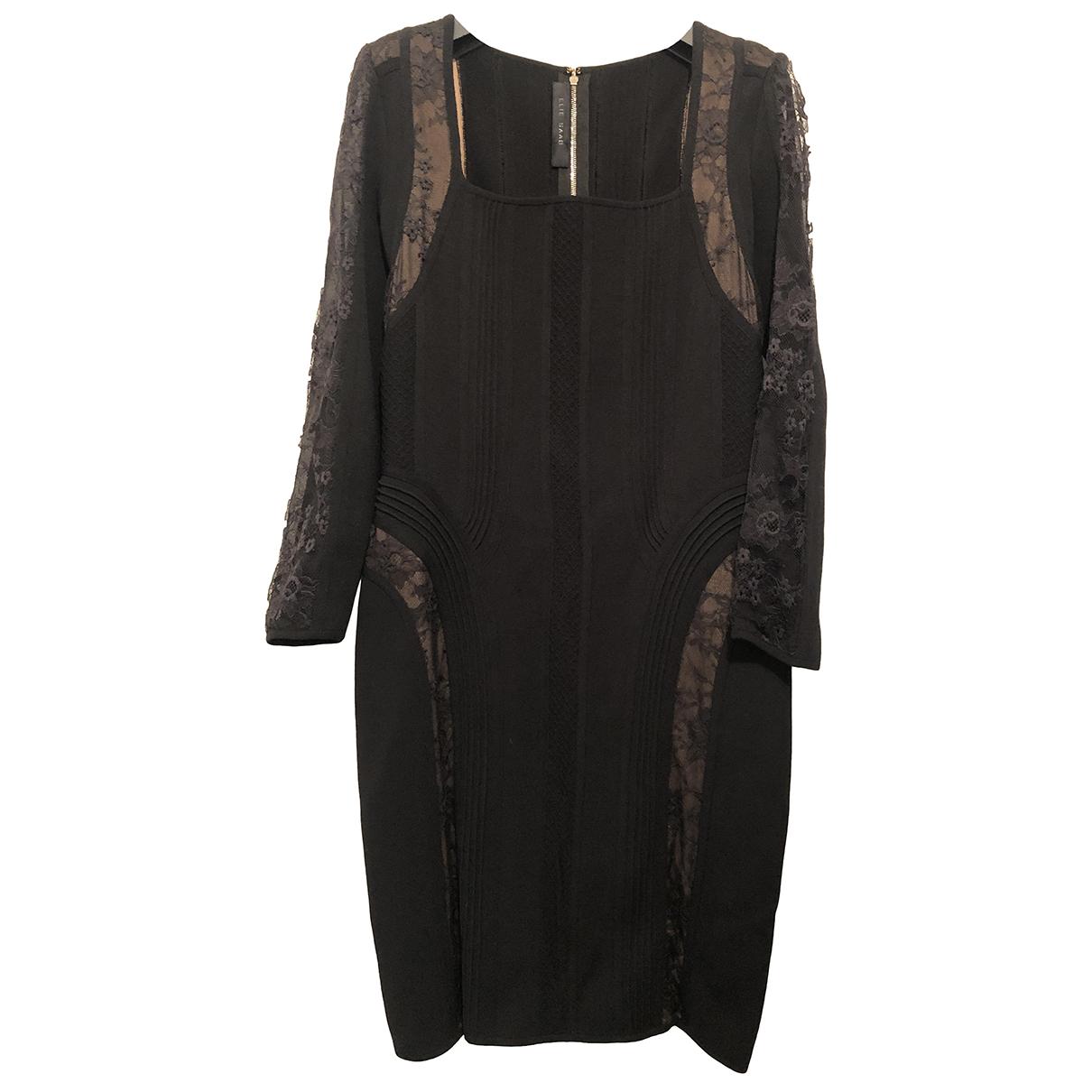 Elie Saab - Robe   pour femme en soie - noir