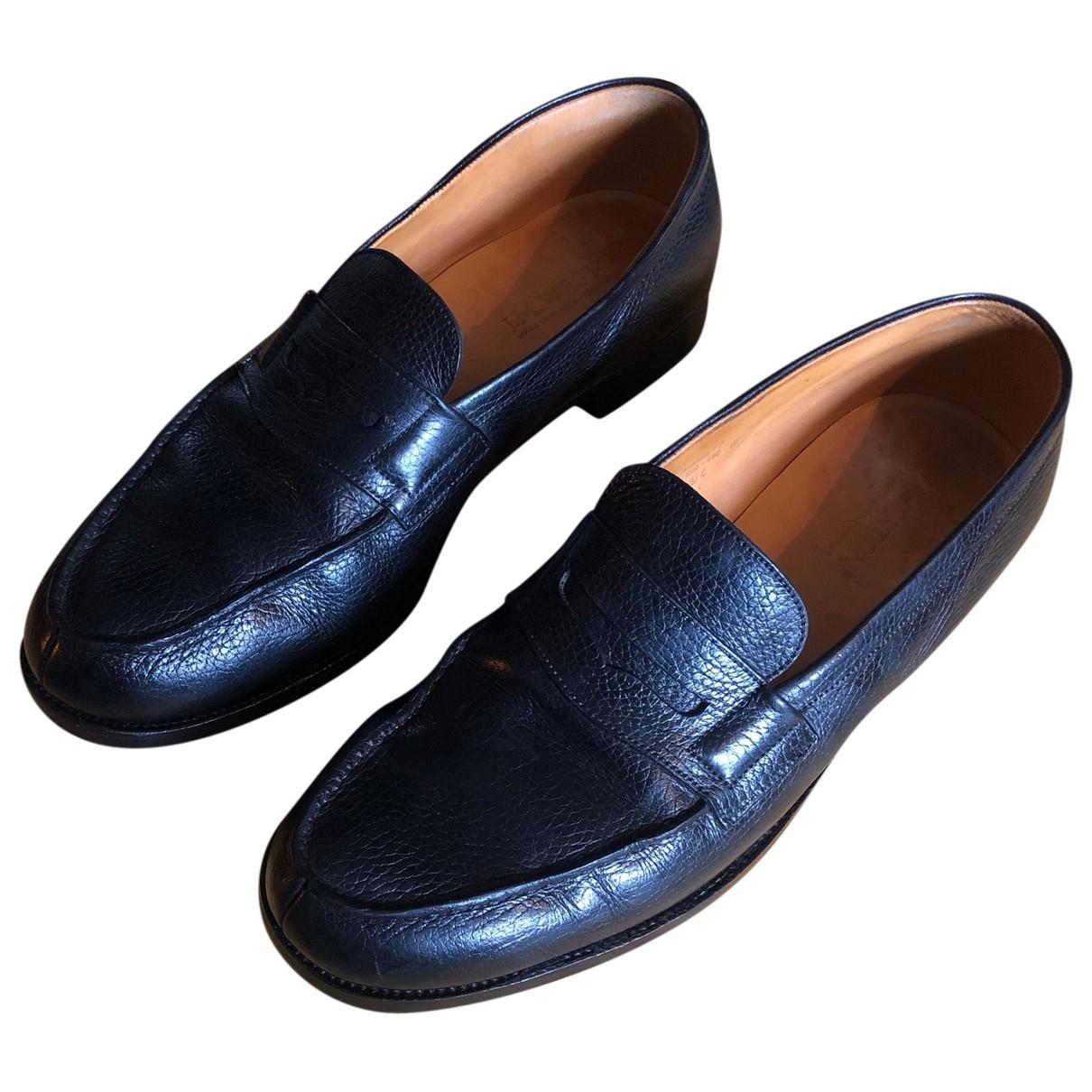 Jm Weston \N Black Leather Flats for Men 42 EU