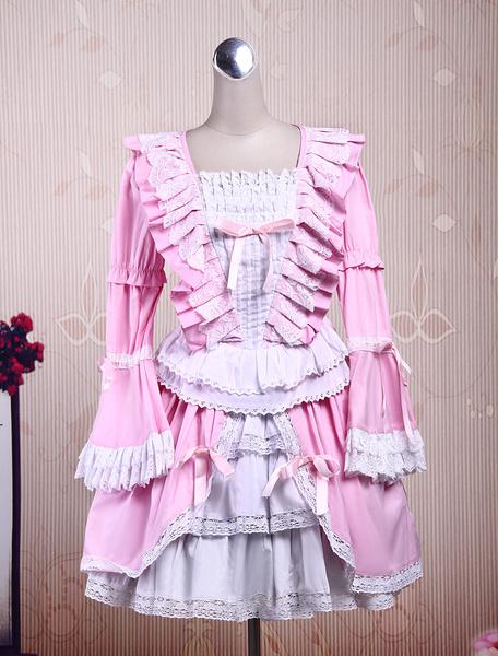 Milanoo Lace Cotton Gothic Lolita Dress
