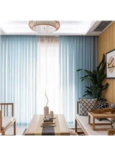 Mediterranean style 2 Panels Decorativ Pure Colored Custom Sheer Curtains