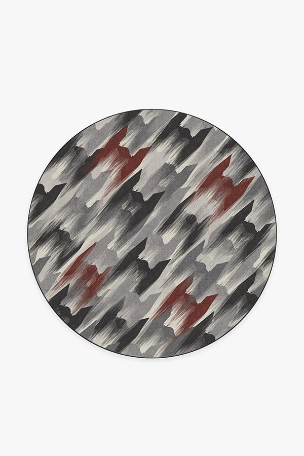 Washable Rug Cover & Pad   TIE Fighter Houndstooth Black Rug   Stain-Resistant   Ruggable   6' Round