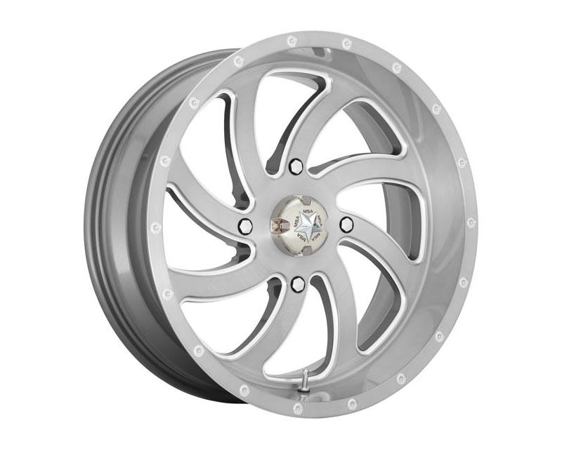 MSA Offroad Wheels M36-024756TI Switch Wheel 24x7 4X156 0mm Brushed Titanium