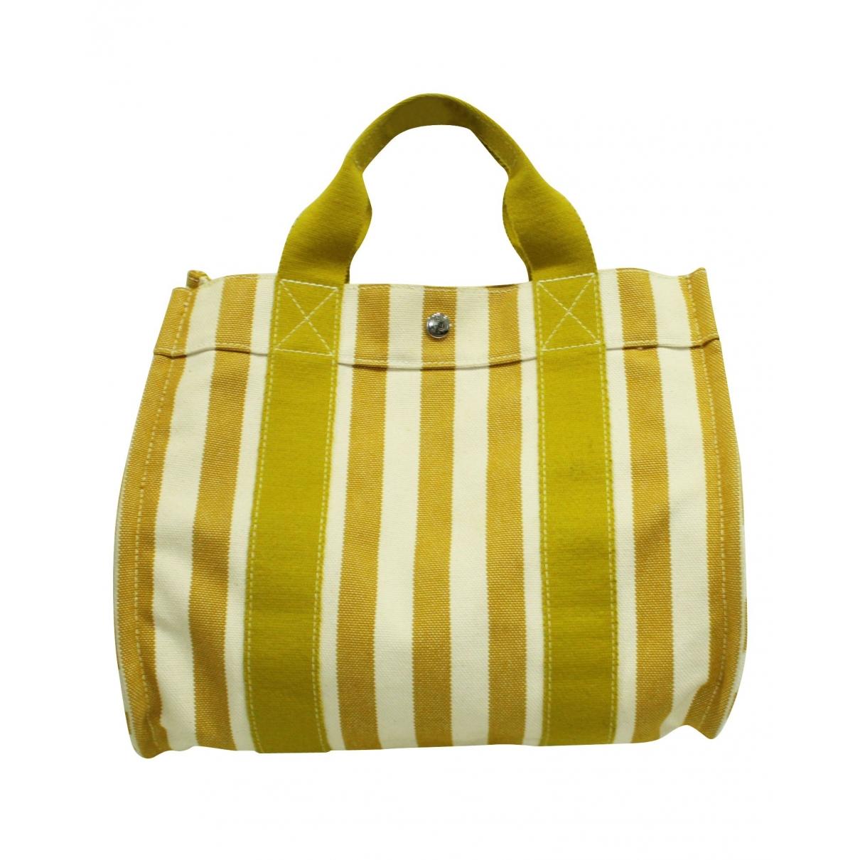Hermès \N Yellow Cotton handbag for Women \N