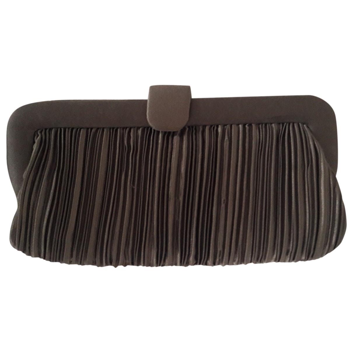 Non Signé / Unsigned \N Khaki Clutch bag for Women \N