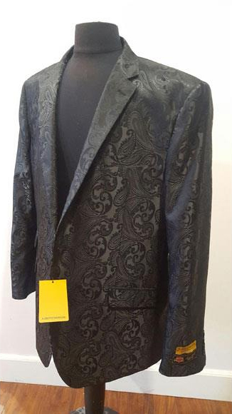 Floral Sportcoat Fashion Blazer For Men Black Dinner Jacket Tuxedo