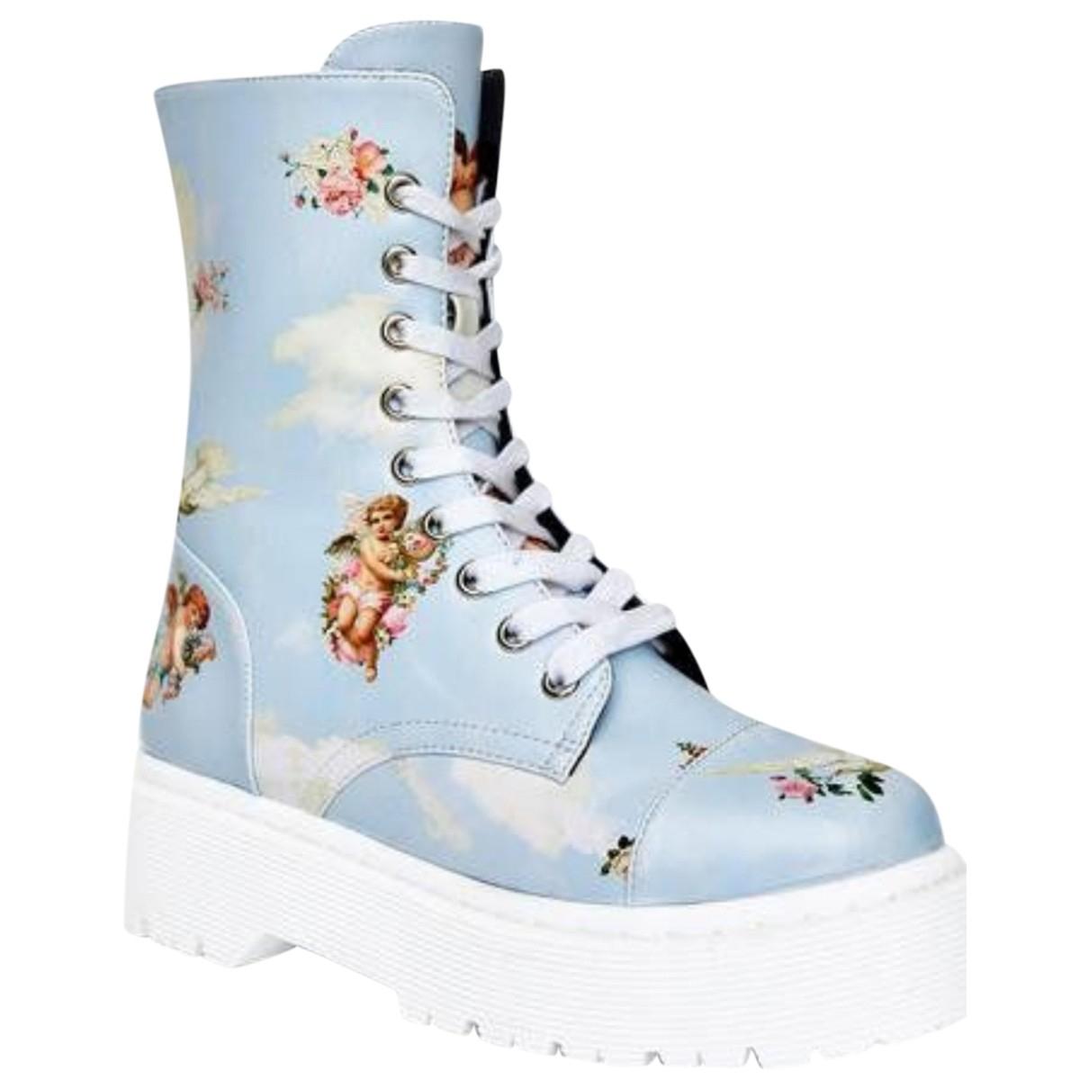 Autre Marque N Blue Boots for Women 8 US