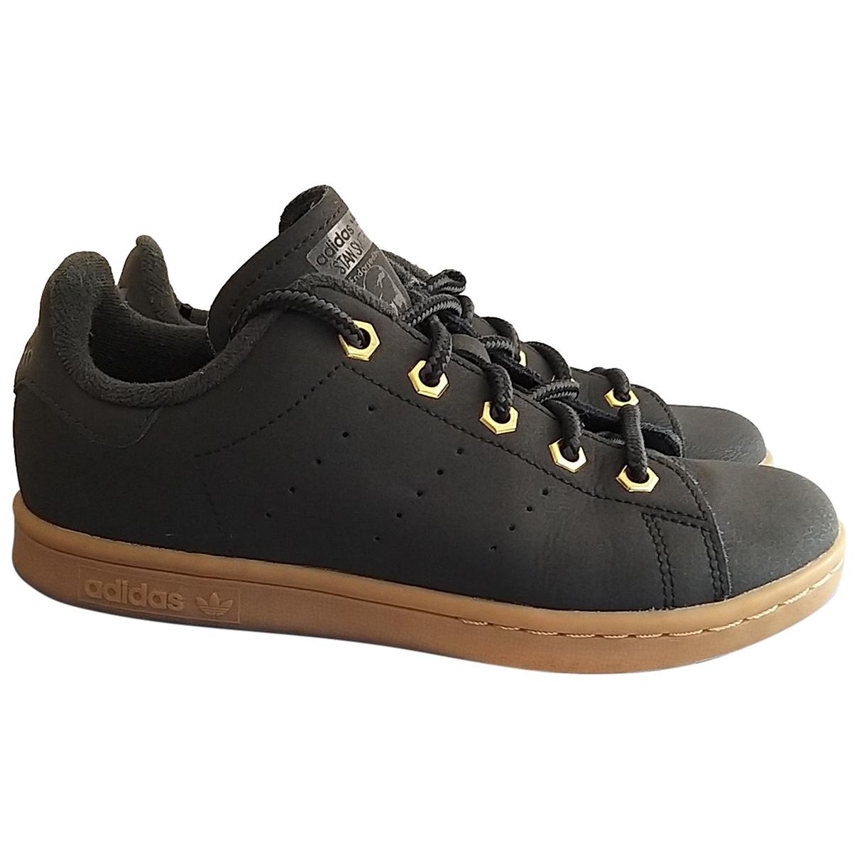 Adidas - Baskets Stan Smith pour enfant en cuir - noir