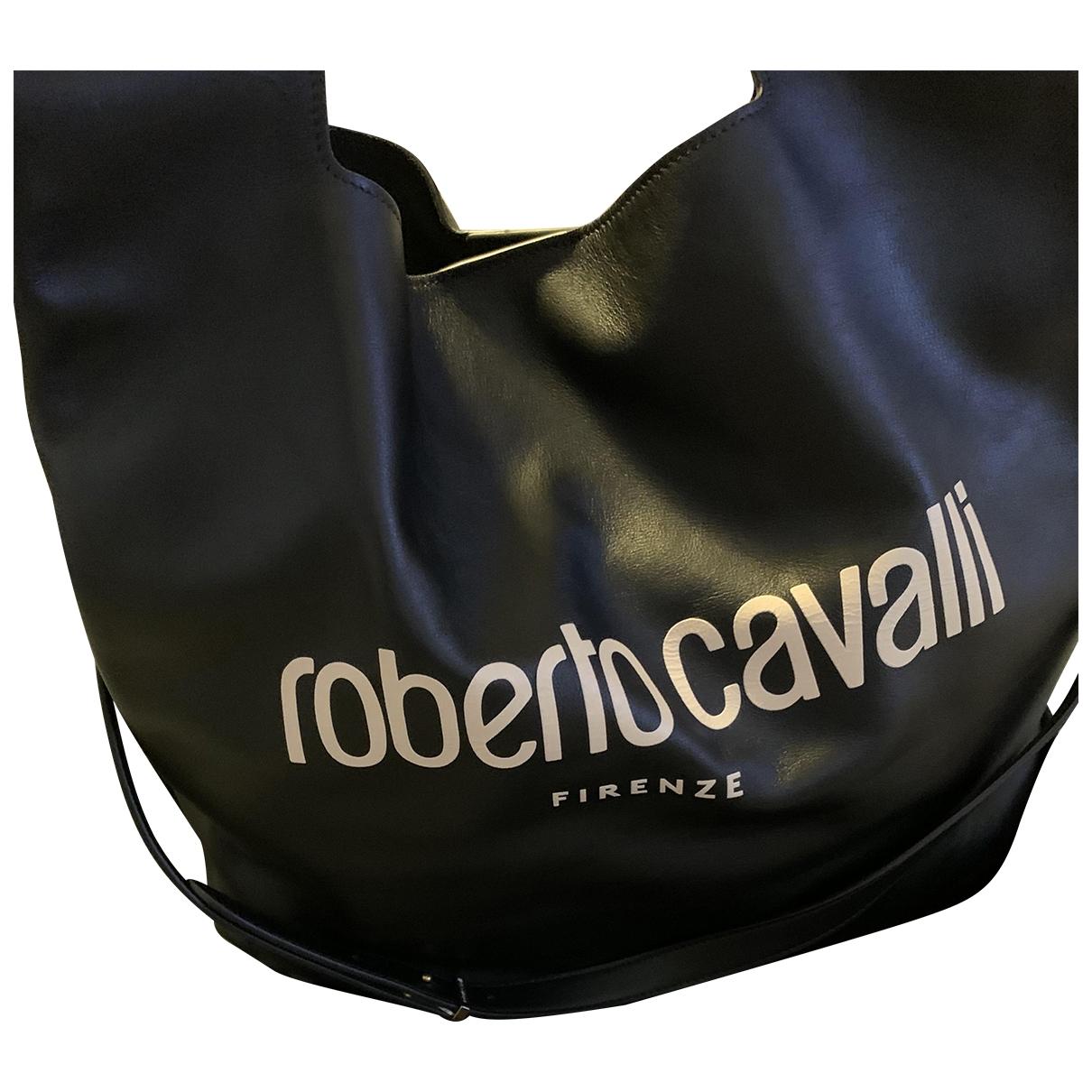 Roberto Cavalli - Sac a main   pour femme en cuir - noir