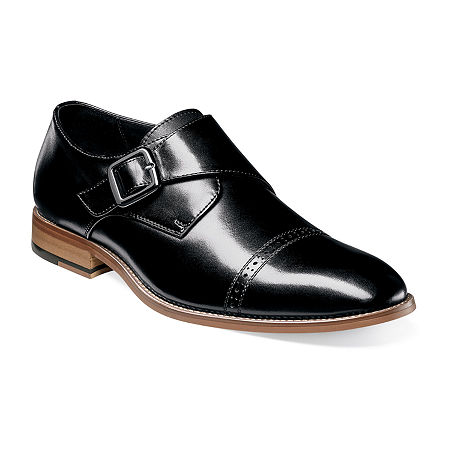 Stacy Adams Mens Desmond Monk-Strap Slip-On Shoe, 12 Medium, Black