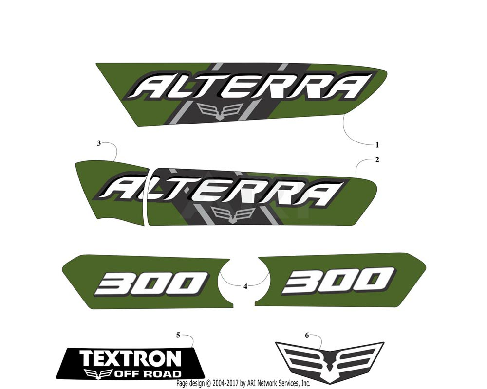 Arctic Cat OEM 6411-379 Decal Side Alterra Left Hand Green (Alt 300)