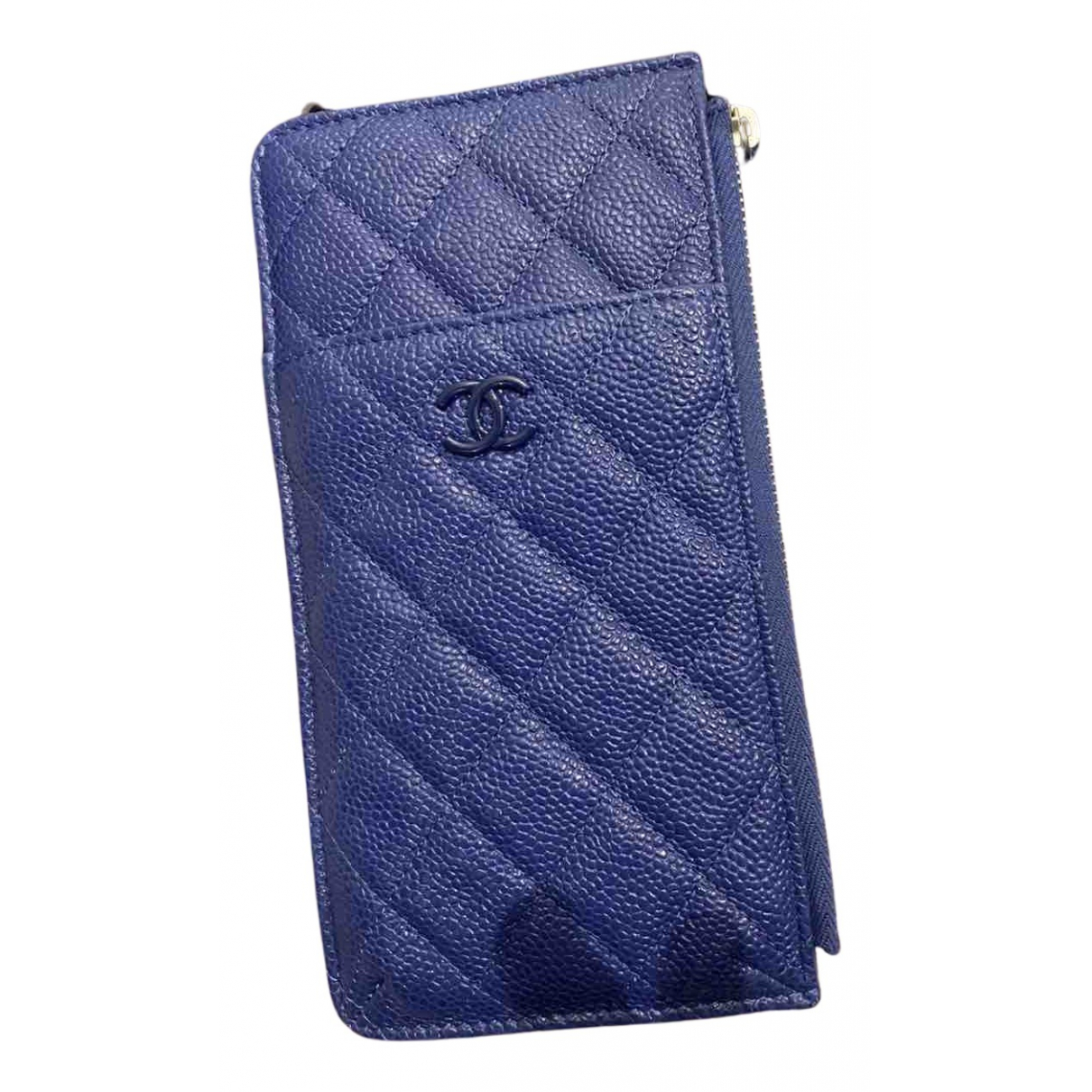Chanel Timeless/Classique Kleinlederwaren in  Blau Leder