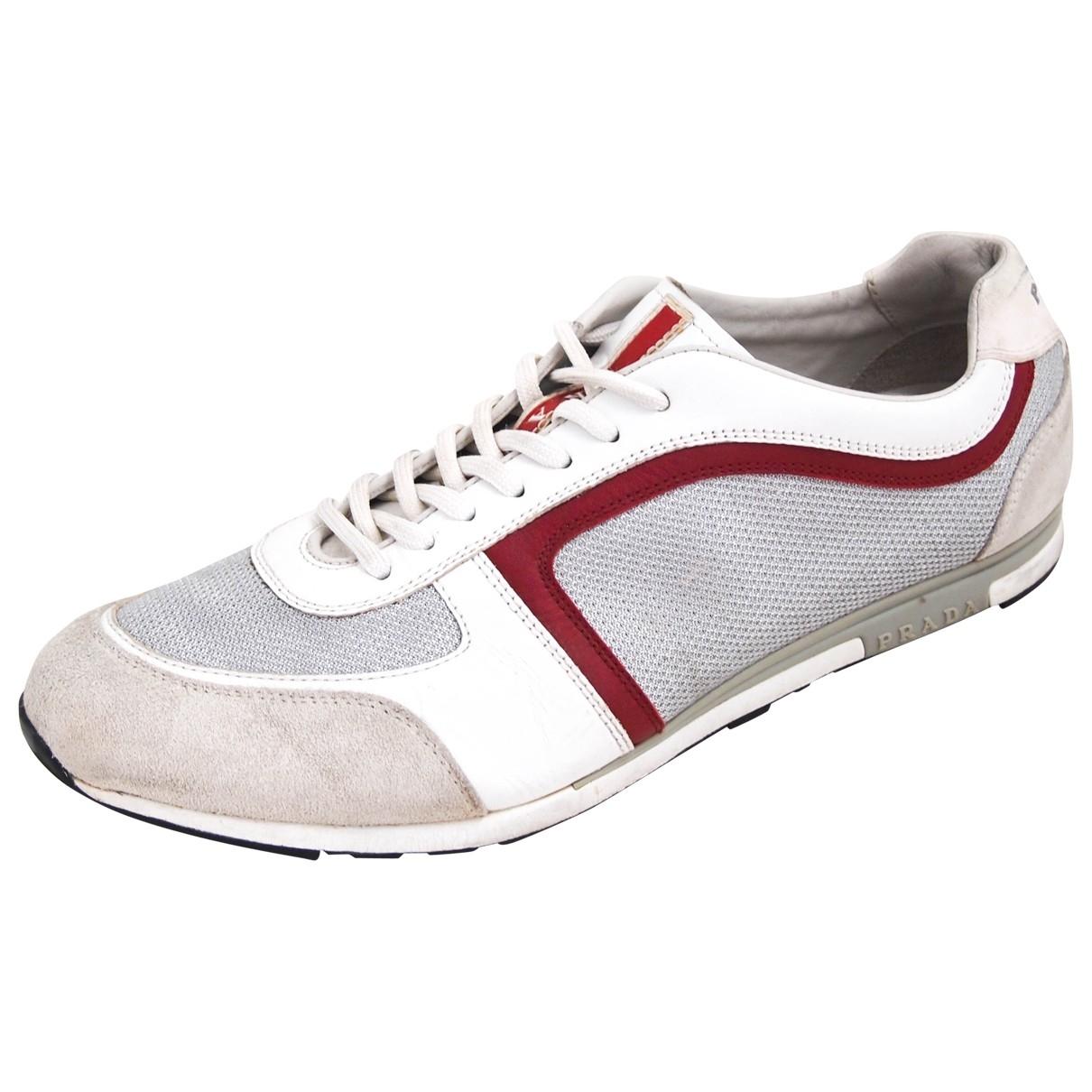 Prada \N Sneakers in  Grau Leinen
