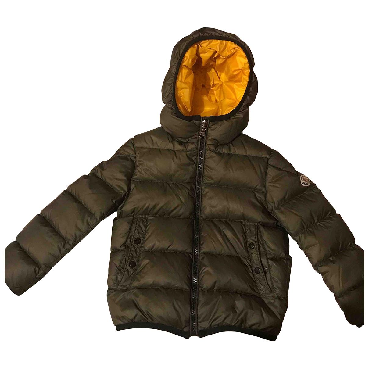 Moncler - Blousons.Manteaux Classic pour enfant en coton - kaki