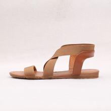 Open Toe Cross Strap Sandals