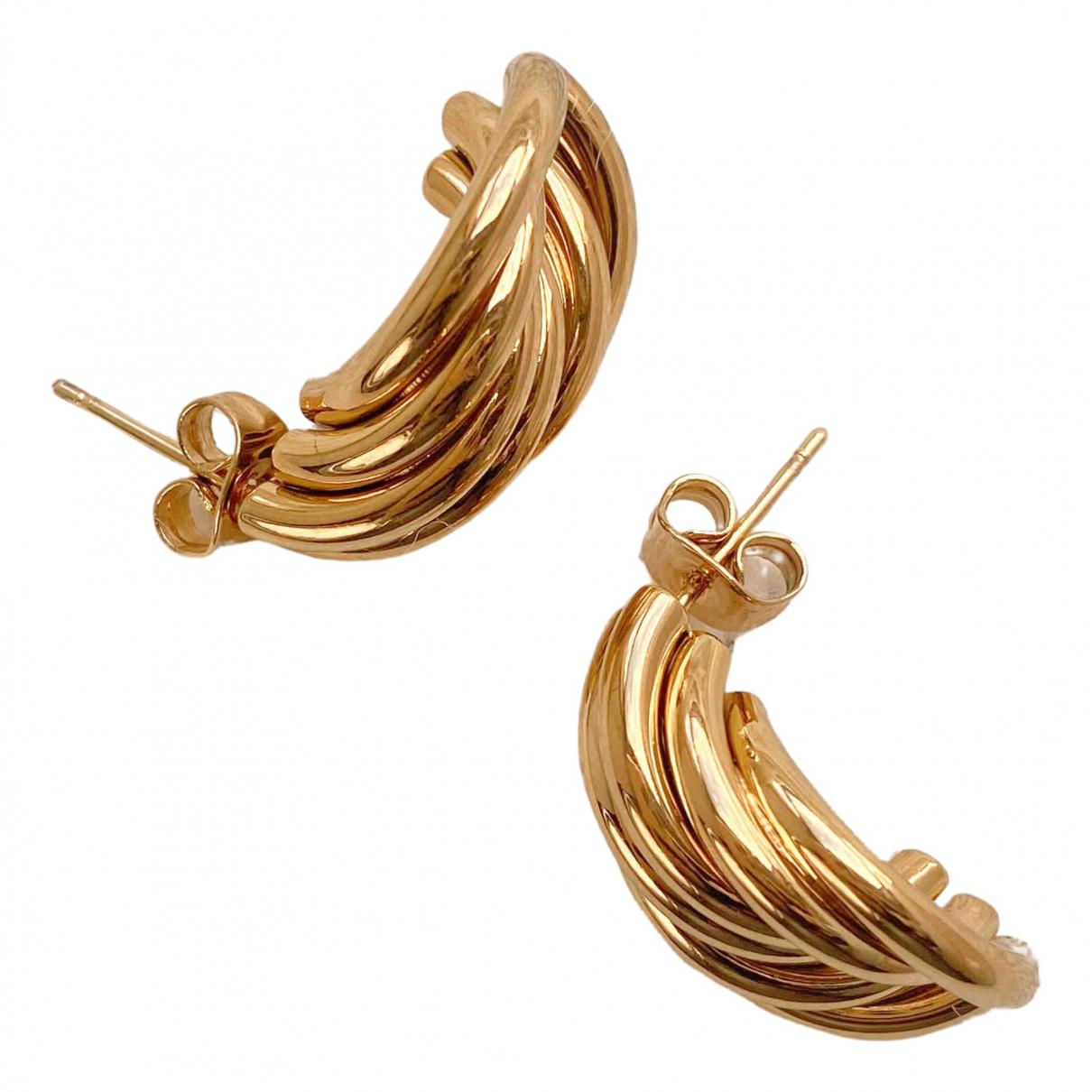 Carven - Boucles doreilles   pour femme en plaque or - dore
