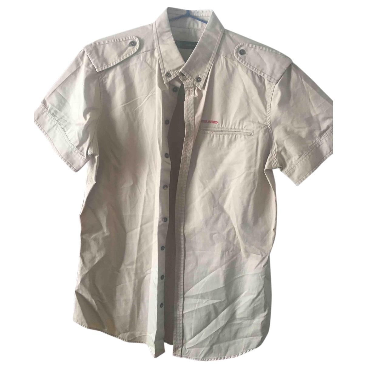 Dsquared2 - Chemises   pour homme en coton - beige