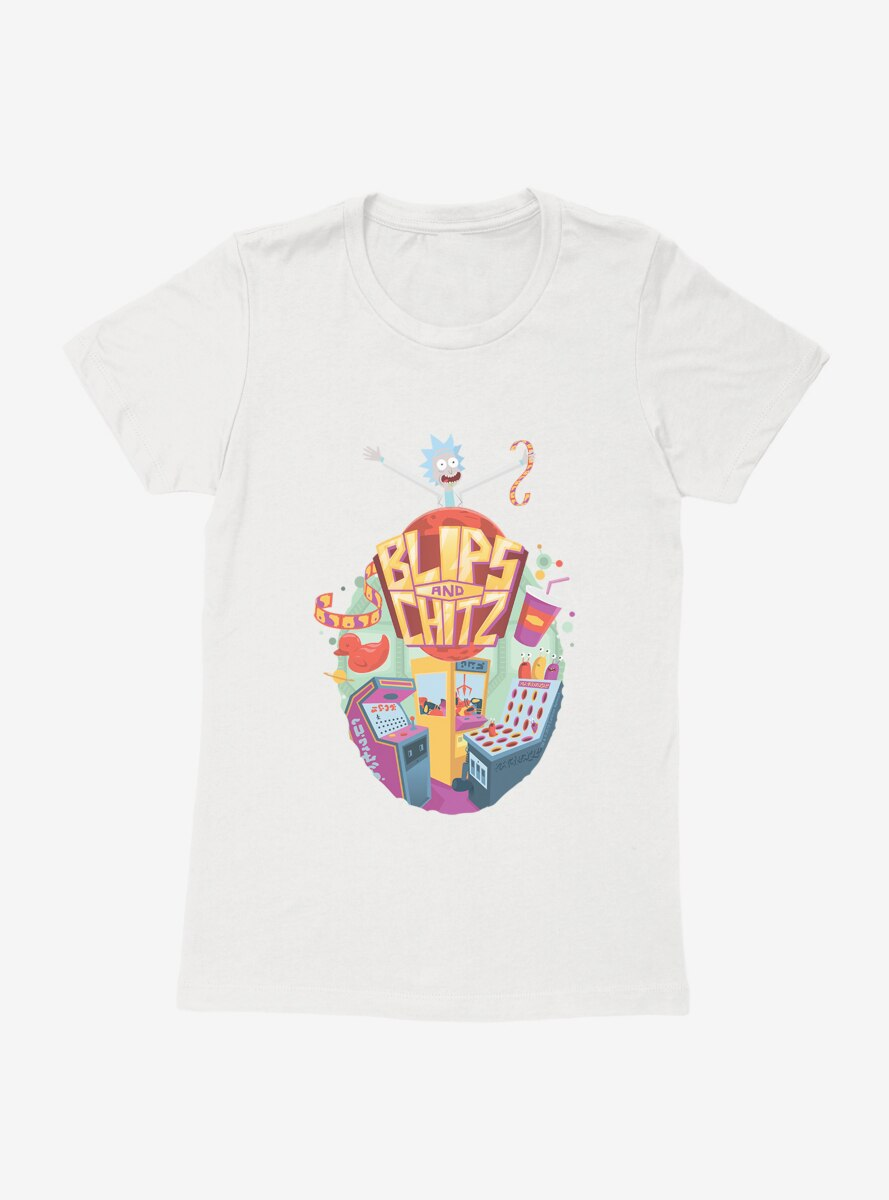 Rick and Morty Blips and Chitz Womens T-Shirt