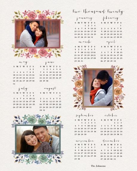 Calendar 8x10 Wood Panel, Home Décor -The Love Of Joy