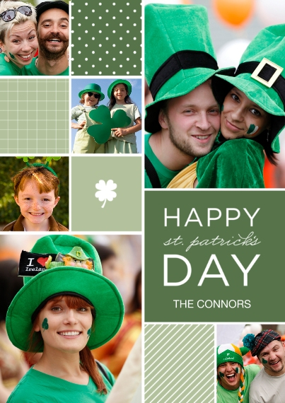 St. Patrick's Day Cards Flat Glossy Photo Paper Cards with Envelopes, 5x7, Card & Stationery -St. Patrick's Patchwork