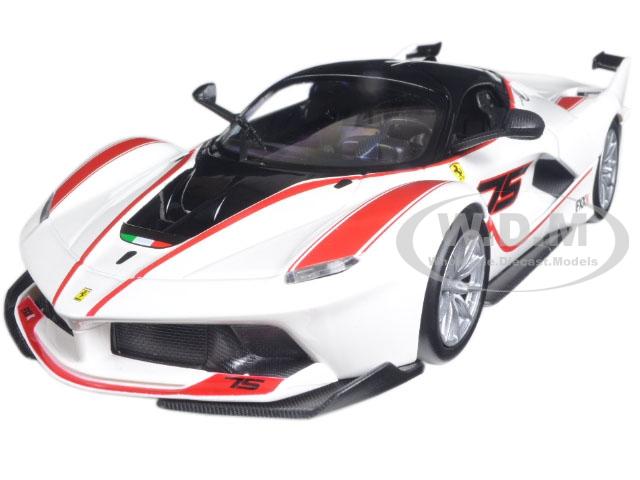 Ferrari Racing FXX-K 75 White 1/24 Diecast Model Car by Bburago