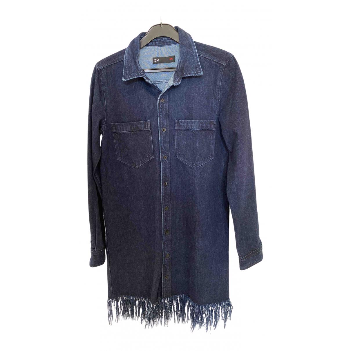 3x1 \N Kleid in  Blau Denim - Jeans