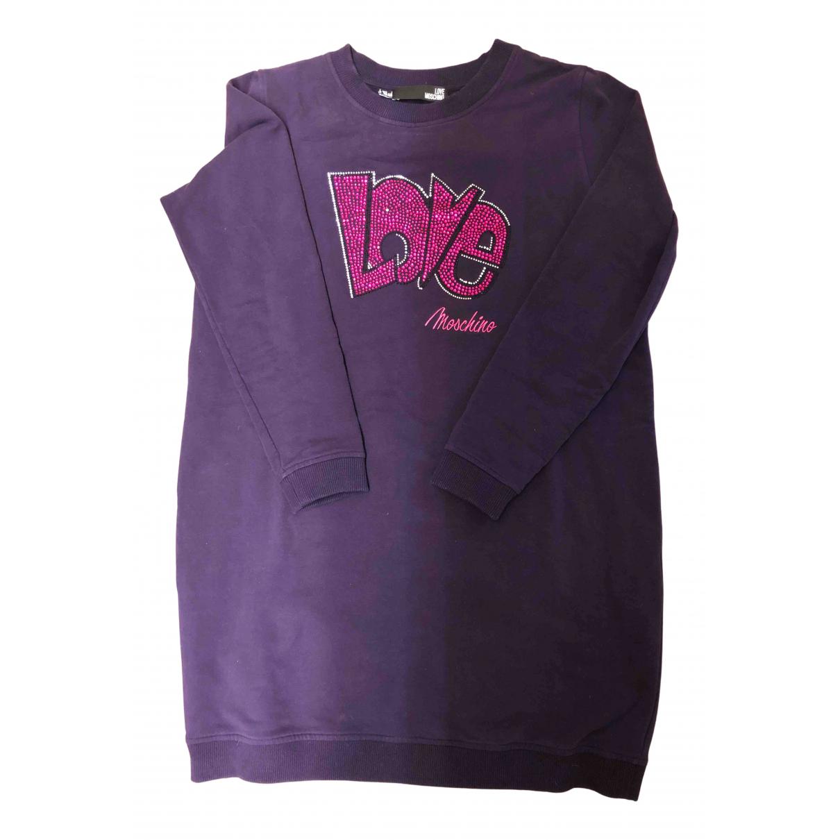 Moschino Love \N Kleid in  Lila Baumwolle